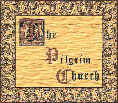The Pilgrim Church in a woodcut style graphic by Michael To'o
